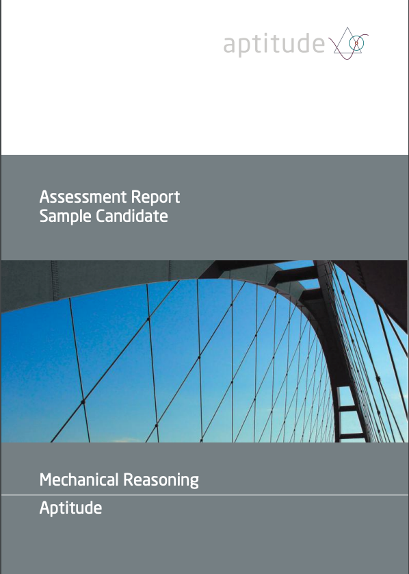 Aptitude mechanical reasoning test cover