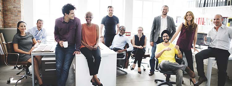 Diverse group of office workers